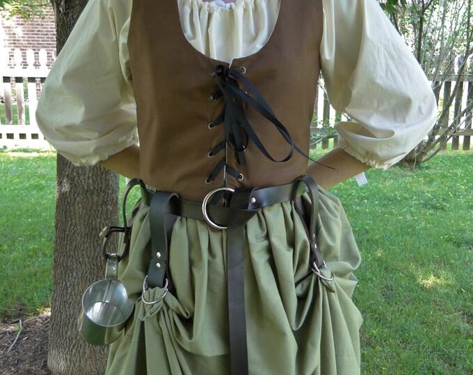 SET 1 Mug Strap, 2 Skirt Hikes, Medieval Renaissance - Choose Your Color