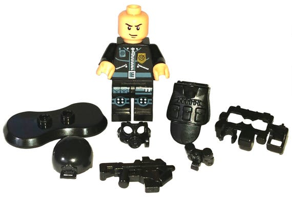 Custom Made Police SWAT Minifig / Minifigure in Tactical