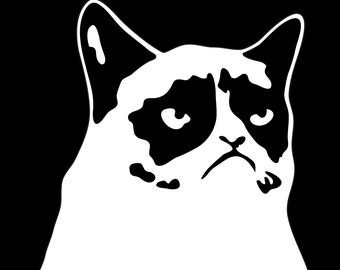 Grumpy Cat Sticker Decal 4""