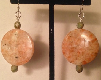 Quartz half dollar earrings