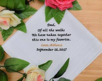 Father of the Bride Gift. Custom Handkerchief. Wedding Handkerchief. Hankie / Hanky. Personalized Hankerchief. Wedding Gift.