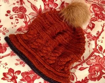 Spirit - a warm winter beanie knitting pattern