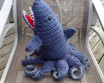Large Crochet Sharktopus