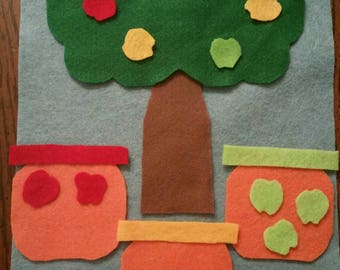 Felt tree and apples