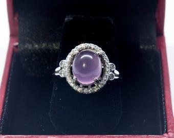 Purple Chalcedony Ladies Ring