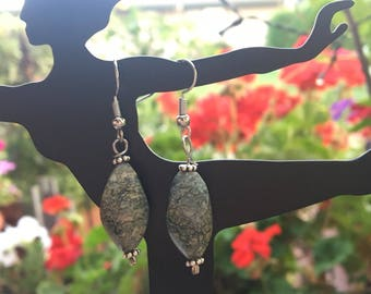 Grey Colored Drop Earrings