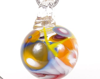 110297 Medium Hand Blown Hanging Art Glass Ball Decorative Ornament