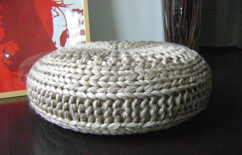 KNITTING PATTERN Knitted Extra Large Pouf Pattern, Poof, Knitting ...