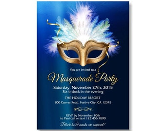 Masquerade Party Portrait Invitation