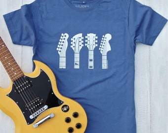 Guitar Headstocks T-shirt - guitar shirt - gifts for guitar players - guitar T shirt - gifts for him - music tees - mens shirt - graphic tee