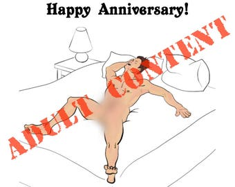 The Way You Make Me Feel, Male, Anniversary Greeting Card