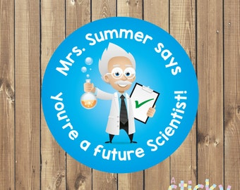 Personalized Science Teacher Stickers, Science Stickers, Reward Stickers, School Stickers, Teacher Stickers, Teacher Gift, Custom Stickers