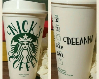 Custom Starbucks cup. Customize your drink order permanently. Add name. Starbucks Ready to drink travel cup. Reusable.