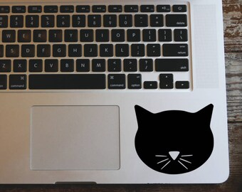 Black cat face decal sticker