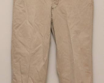 Vintage 1950s mens tan military cotton chino pants
