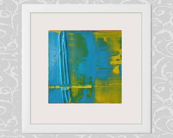 FREE SHIPPING, Original Abstract Painting,    Small  Painting on canvas  4x4 inches (~10x10 cm )  Free Shipping to USA, Canada