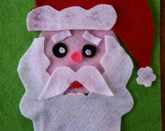 Vilt gezicht van de Kerstman