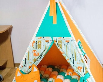 Tepee for kids with Fox