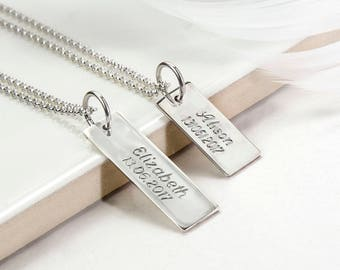 Sterling Silver Message Tag Necklace