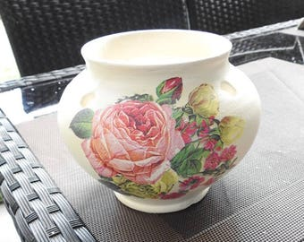 Old pot - Vintage - Vase - Oddments - old Roses - Shabby