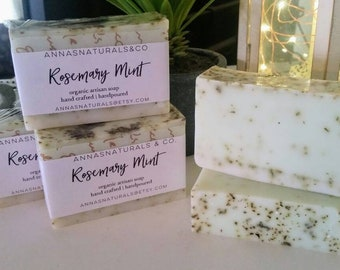 Rosemary Mint Shea Butter All Natural Luxury Soap