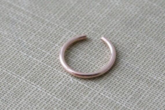 14K Rose GoldFilled Round Wire Ear Cuff