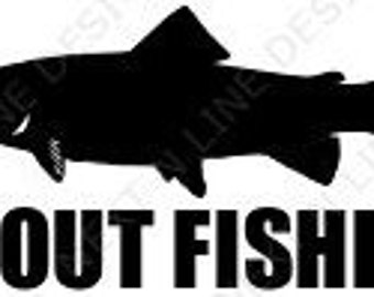Fishing, Trout, Fly Fishing, Trout Fishing, Kayak, Window Sticker, Car Decal, Vehicle Decal, Car Window Decal, Home Decor, Vinyl Decal