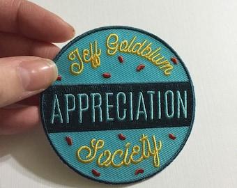 Jeff Goldblum Appreciation Society patch in Marine
