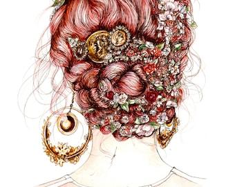 Dolce and Gabbana SS14 Fashion Illustration Wall Art Print