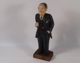 Carved Wooden Man Figurine - Old-Timer