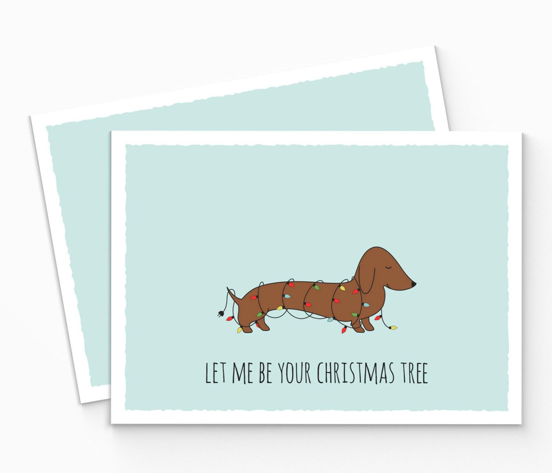 Printable sausage dog christmas card dachshund christmas zoom kristyandbryce Image collections