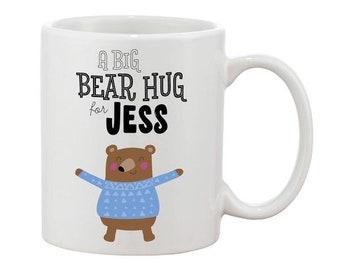 Personalised Bear Hug Mug