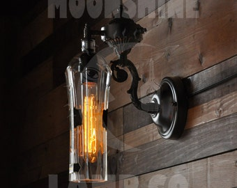 Recycled Bottle Lamp - St. Germain Wall Sconce