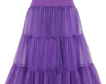 25%Off Women's 50s Inspired Floor Length Wedding Vintage Style Petticoat Long Underskirt