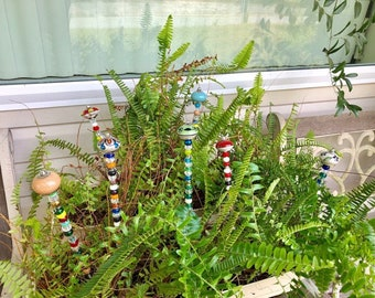 Garden Wands-Beaded Plant Stakes- Choose the one you want!!