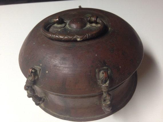 Antique Persian Copper Betel Box