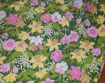 Tropical floral vintage twin sheet