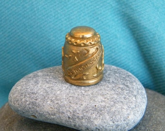 Thimble from Benalmadena, Malaga, Spain, bronze vintage thimble, sewer gift, collectible thimble, sewing accessory jewelry, sewer collection