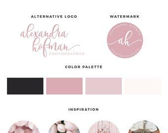 Photography Logo, Branding Kit, Blog logo kit, Blog branding kit, Premade Logo,  Logo Design, Calligraphy Logo, Premade logos, Watermark