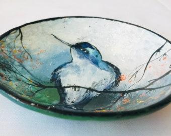 The bird glass bowl