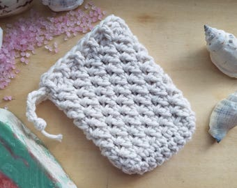 Soap saver, soap sock, soap scrubber, soap sack, soap on a rope, bath accessories, gift for her, spa accessories, shower accessories