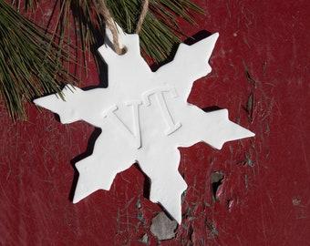 VT Snowflake Ornament