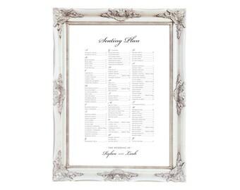 Wedding Seating Chart Plan