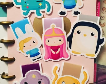 Adventure Time magnetic bookmark planner