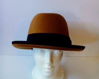 Faux Felt Homburg Hat