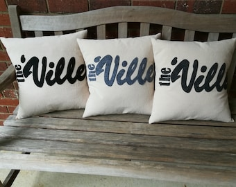 """The 'Ville, Westerville Pillow Cover, 16"""", Your choice of color"""