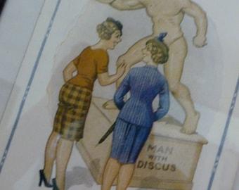 Vintage Postcard Collection Donald McGill Brittish Postcards Comics Collection Bawdy Fun 14 Vintage Postcards  at A Vintage Revolution