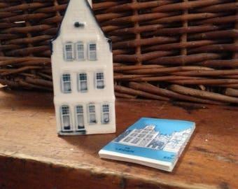 Blue Delft's Rynbende Distilleries Holland Old Dutch Houses Buildings Miniatures Blue White KLM 31