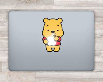 MacBook Decal Disney MacBook Sticker Pooh MacBook Air Winnie The Pooh MacBook Pro 2016 Retina 13 Apple Decal Laptop Sticker Pooh Bear bn658