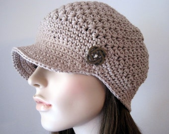 Womens Accesories, Crochet Hat, Womens Newsboy Hat, Crochet Womens Hat, Teen Hat, Newsboy Cap, Crochet Beanie Baseball Cap, Autumn Fashion.